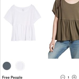 """Free People """"Odessey tee"""" in white!"""